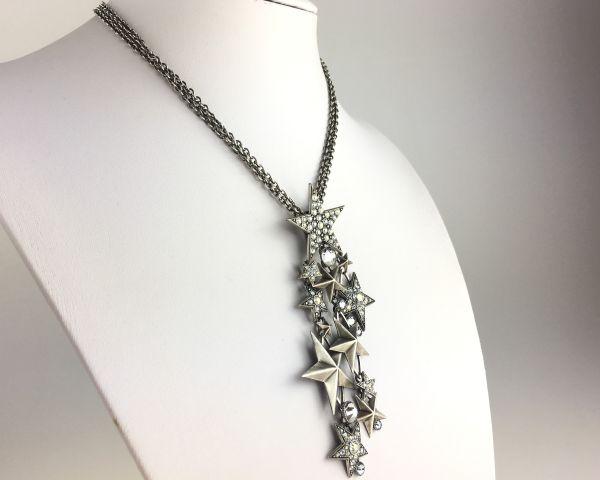 Konplott Dancing Star Halskette mit steinbesetztem Anhänger silber Stern #5450543622354