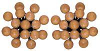Magic Fireball Ohrstecker klassisch in apricot de glace crystal peach de lite