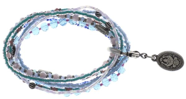 Petit Glamour d'Afrique Armband in blau/lila