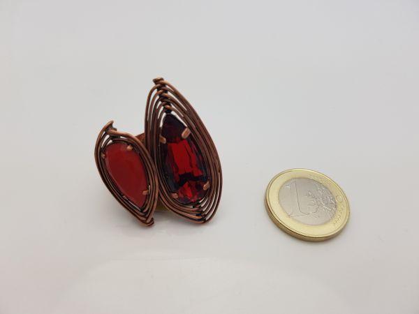Konplott Amazonia Ring in rot, Größe M,S #5450543752990