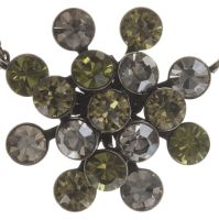 Magic Fireball Halskette mit Anhänger grün/ kristall