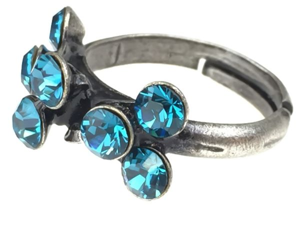 Konplott Magic Fireball 8 Stein Ring in indicolite, blau #5450527640244
