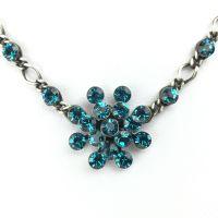 Konplott Magic Fireball Halskette steinbesetzt mit Anhänger in indicolite