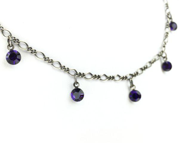 Konplott Tutui purple velvet Halskette steinbesetzt #5450527641234