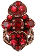 Konplott Tears of Joy Ring in coralline scarlet rot Größe S