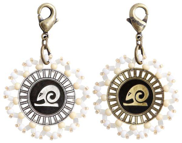 Konplott Zodiac weißer Charm-Anhänger (Widder) #5450543648330
