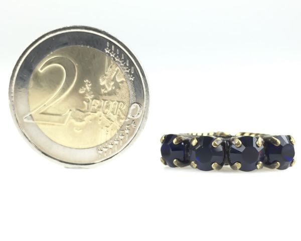 Konplott Colour Snake Ring in Dark Indigo, dunkelblau #5450527640893