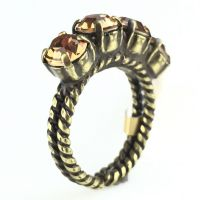 Colour Snake Ring in Light Smoked Topaz, hellbraun