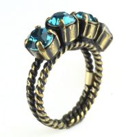 Konplott Colour Snake Ring in Indicolite, blau