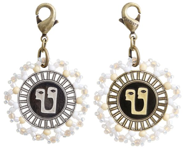 Konplott Zodiac weißer Charm-Anhänger (Zwillinge) #5450543648354