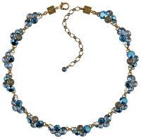 Konplott Petit Glamour steinbesetzte Halskette in dunkelblau
