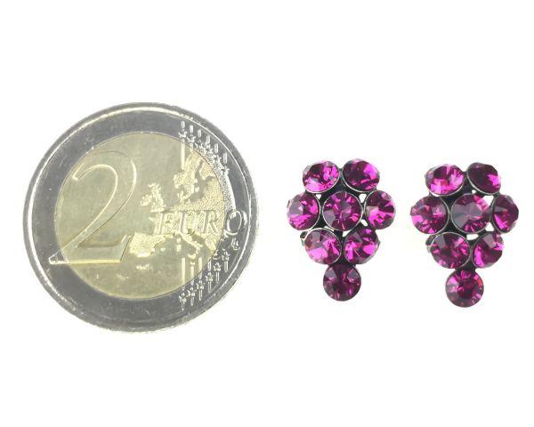 Konplott Magic Fireball Ohrstecker Traube in fuchsia, pink #5450527611916