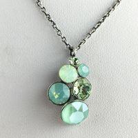 Konplott Petit Glamour grüne Halskette mit Anhänger #5450543631073