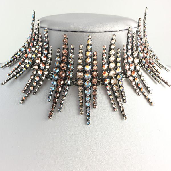 Konplott Global Glam De Luxe beige Halskette Choker #5450543641829
