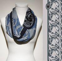 Konplott Schal Floral 4 in blau