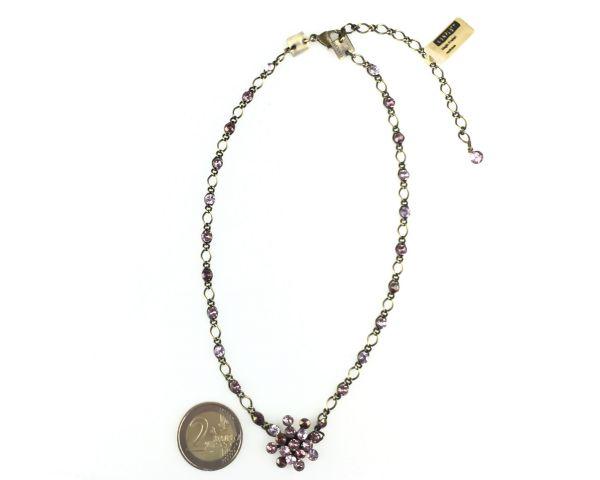 Konplott Magic Fireball Halskette steinbesetzt mit Anhänger in lila #5450543218328
