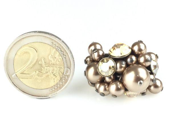 Konplott Pearl Shadow crystal golden shadow Ring #5450527598804