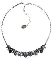 Konplott Water Cascade Collier in schwarz antik silber #5450543686059