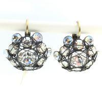 Bended Lights Ohrhänger mit Klappverschluss in Weiß