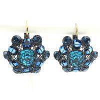 Konplott Bended Lights Ohrhänger mit Klappverschluss in Blau