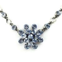 Konplott Magic Fireball Halskette steinbesetzt mit Anhänger in light sapphire, hellblau
