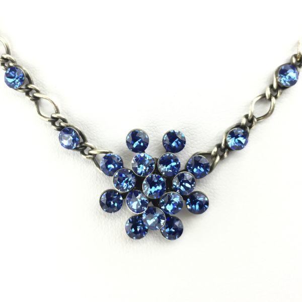 Magic Fireball Halskette steinbesetzt mit Anhänger in sapphire, blau
