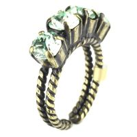 Colour Snake Ring in Chrysolite, hellgrün