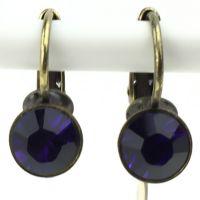 Konplott Black Jack Ohrhänger mit Klappverschluss in purple velvet
