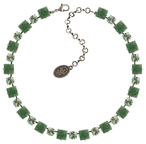 Konplott Cleo Halskette steinbesetzt in grün #5450543716442