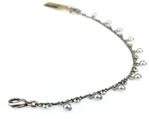 Konplott Pearl Shadow black diamond Armband verschließbar #5450527598842