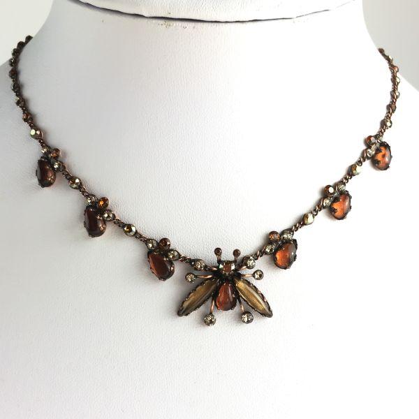 Konplott Flower Zumzum braune Halskette steinbesetzt #5450543621432
