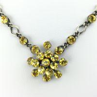 Konplott Magic Fireball Halskette steinbesetzt mit Anhänger in light topaz