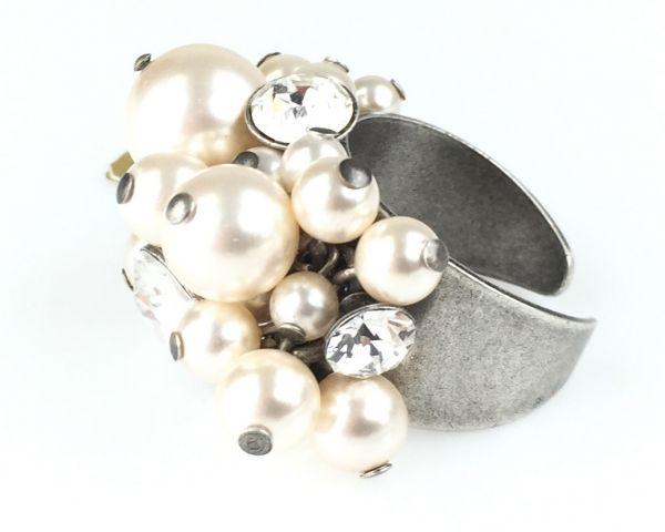 Konplott Pearl Shadow crystal Ring #5450527444583