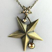 Konplott Dancing Star Halskette mit Anhänger gold Stern #5450543633664