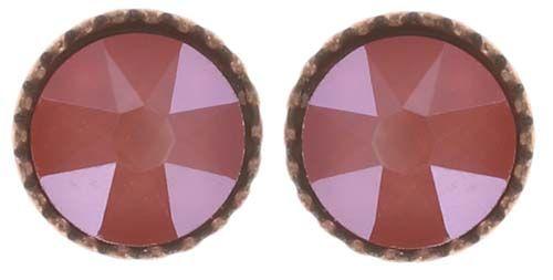 Konplott Black Jack Ohrstecker klassisch klein in coralline crystal light coral #5450543728551