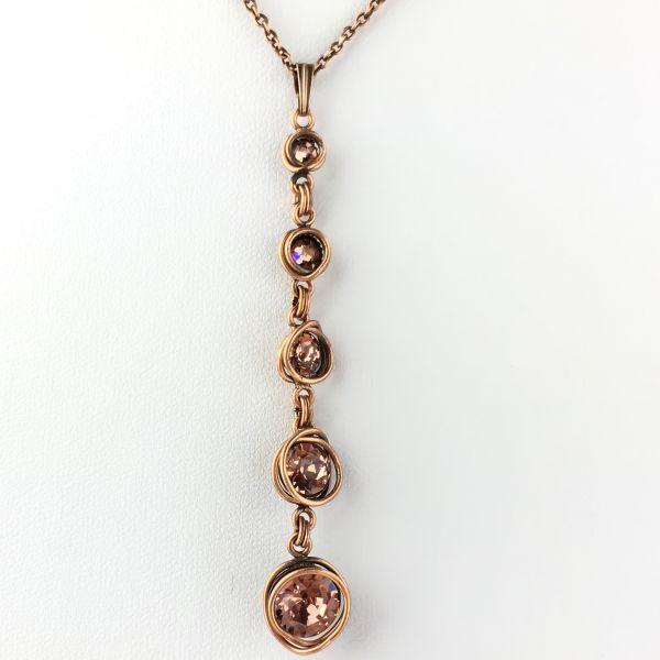 Konplott Sparkle Twist rosa Halskette mit Anhänger lang #5450543470221