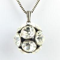 Disco Balls crystal Halskette lang mit Anhänger L