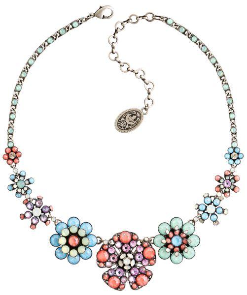 Konplott Lost Garden Halskette pastel multi antique silber #5450543652580