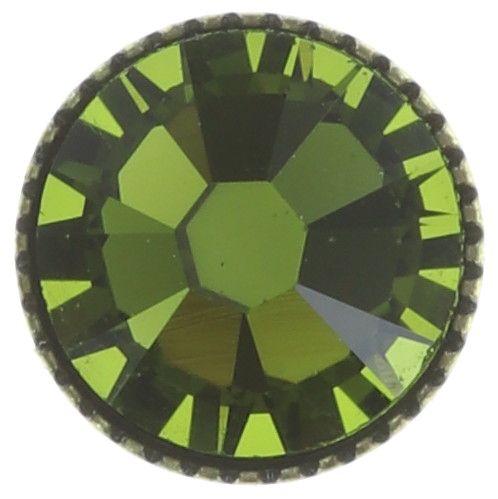 Konplott Black Jack Ohrstecker groß in oliv grün #5450527723053