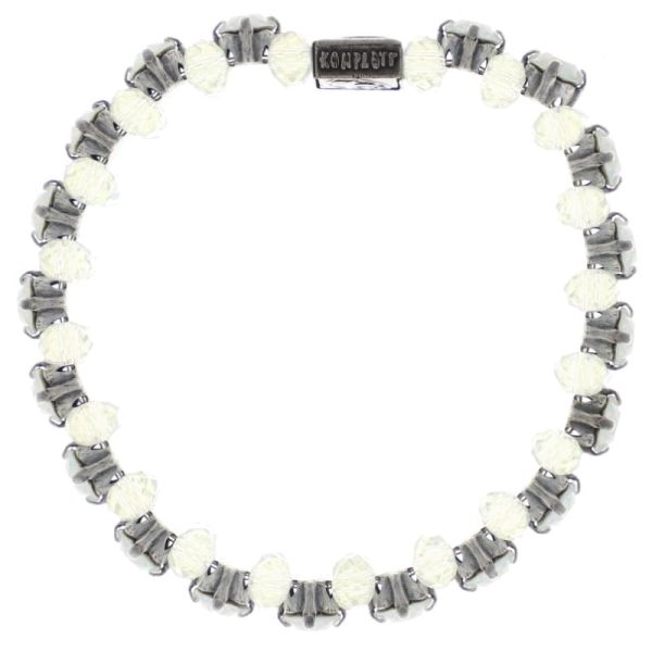 Konplott Beat of the Beads Armband in weiß #5450543718590