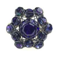 Bended Lights Ring in Violett