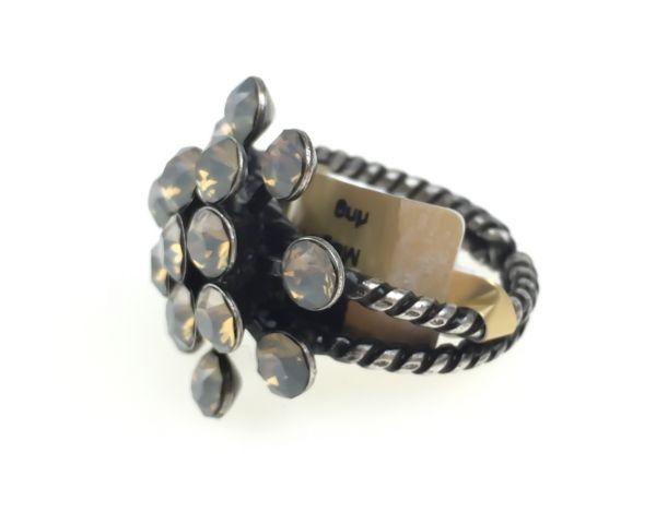 Konplott Magic Fireball 16 Stein Ring in light grey opal #5450527767415