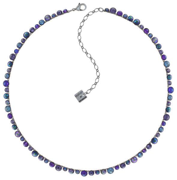 Water Cascade steinbesetzte Halskette in lila
