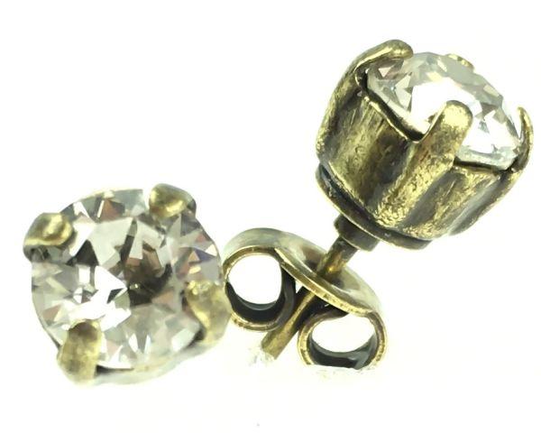 Konplott Black Jack Ohrstecker eckig in crystal silver shade #5450527490610