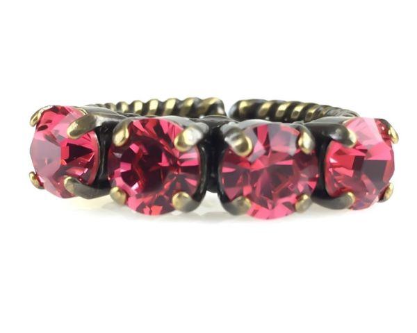 Konplott Colour Snake Ring in Indian Pink, pink/rot #5450527612357