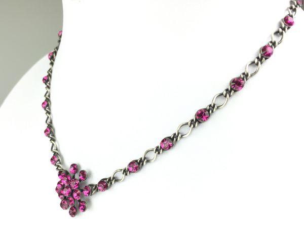 Konplott Magic Fireball Halskette steinbesetzt mit Anhänger in fuchsia #5450527611848