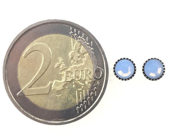 Konplott Black Jack Ohrstecker klassisch rund klein in air blue opal #5450543262147