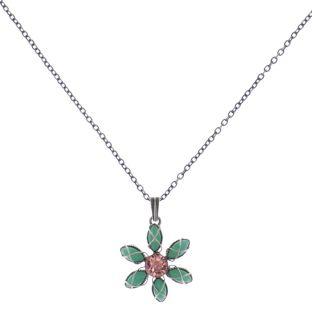 Konplott Psychodahlia Halskette mit Anhänger in multi Silberfarben #5450543733920