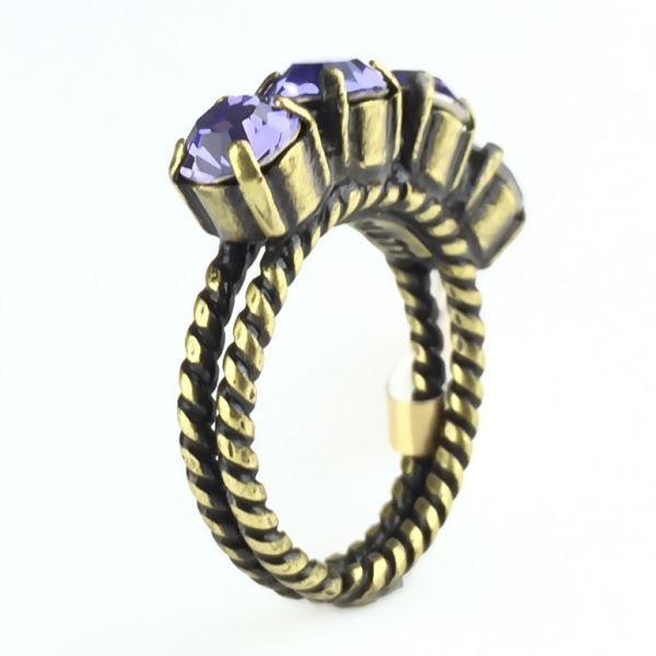 Konplott Colour Snake Ring in Tanzanite, violett #5450527640923