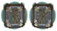 Konplott Color on the Rocks grüne Ohrstecker klassisch #5450543645254